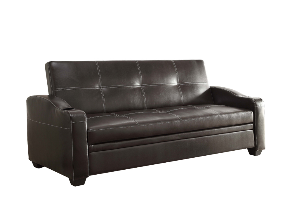 caf sleeper sofa leather