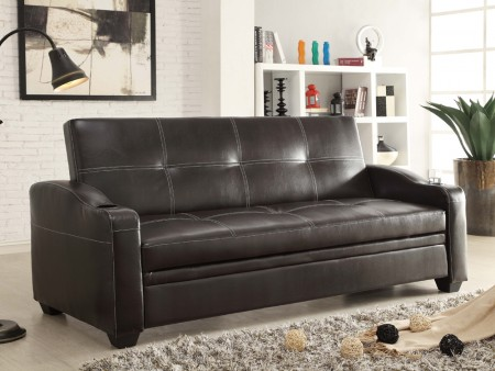rent caf sleeper sofa leather