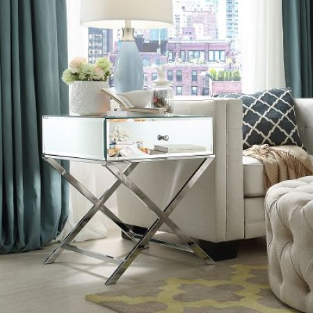 Glossy Paris End Table