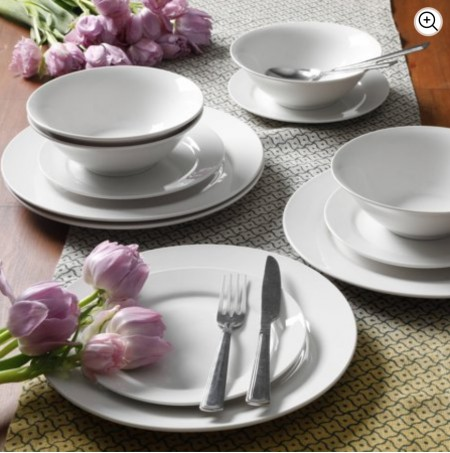 White Out Basic Dining Set