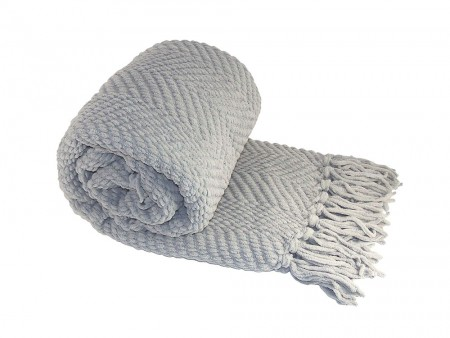 Gray Throw