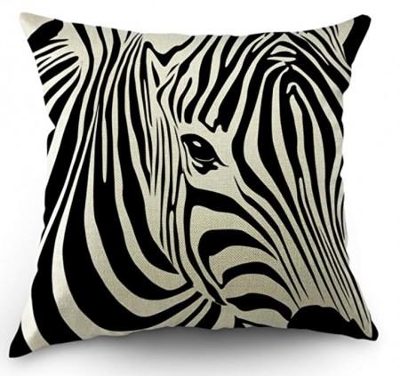 Zebra Stripped Pillow Cover