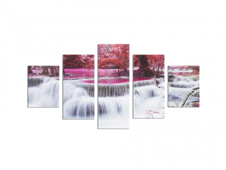 5 piece waterfall art