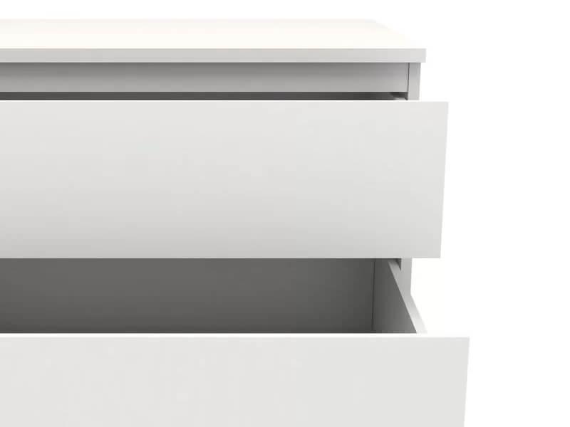 White Jennifer Dresser 3