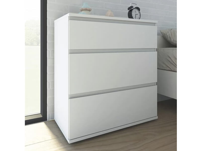 White Jennifer Dresser 4