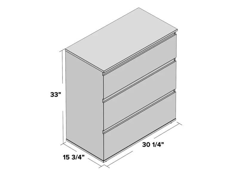 White Jennifer Dresser 5