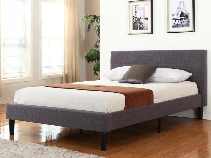 Grey Miranda Upholstered Bed 2