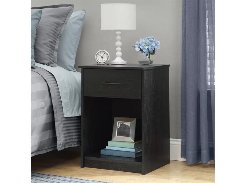 Black EbonyAsh Burlington Nightstand 3