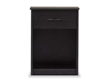 Black EbonyAsh Burlington Nightstand 2