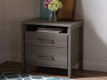 Grey Maple Gilmore Nightstand 3