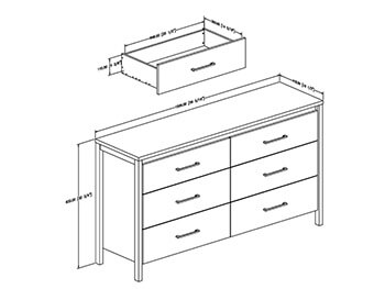 Grey Maple Gilmore Large Dresser 4