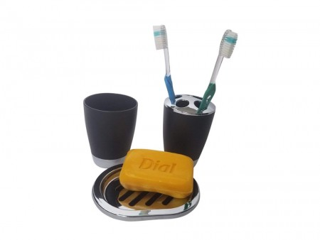 Rent Inhabitr Basic Bath Accessory Set