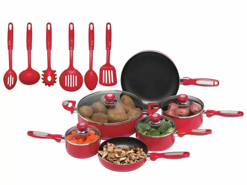 Inhabitr 16pc Cookware Set 1