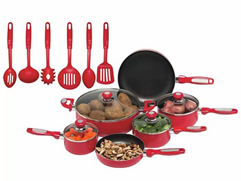 Inhabitr 16-Piece Cookware Set