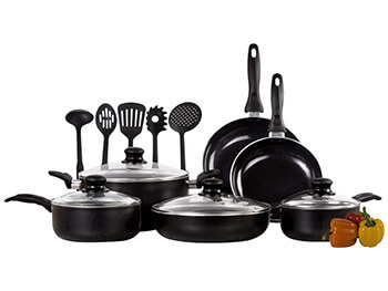 Inhabitr-Pearson 15-Piece Cookware Set
