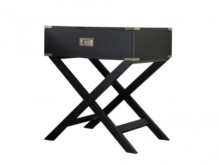 paris nightstand black