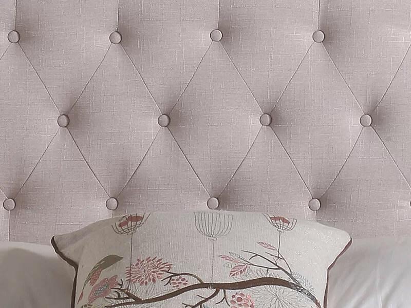 Full Beige Charlene Upholstered Panel Headboard 4