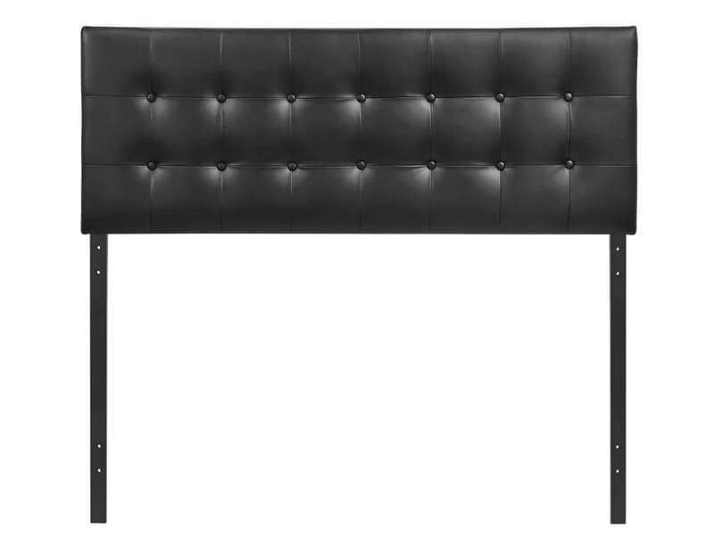 Queen Black Cornelia Upholstered Panel Headboard 2