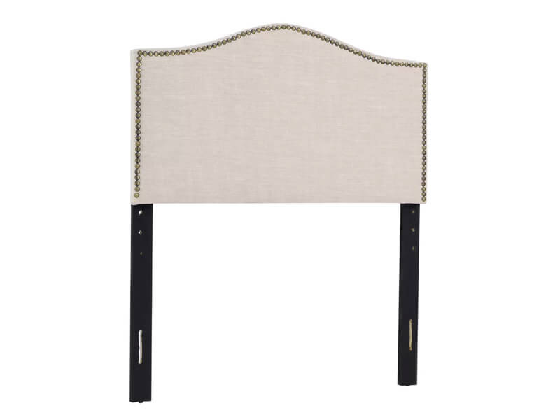 Twin Beige Jolie Upholstered Panel Headboard 2