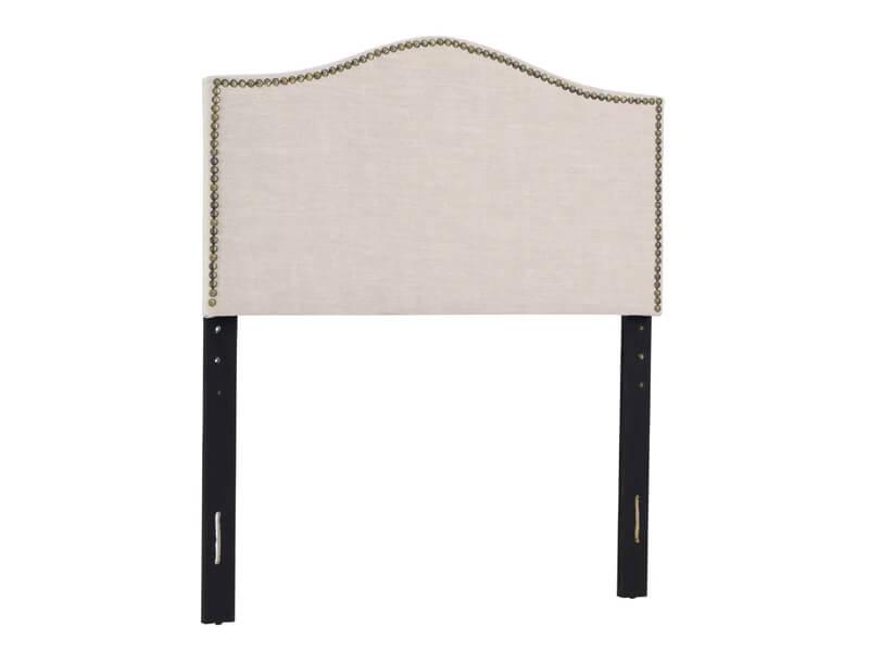 Queen Beige Jolie Upholstered Panel Headboard 2