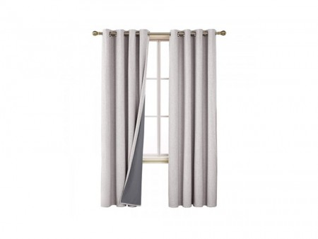 Inhabitr Grey Curtain Panel