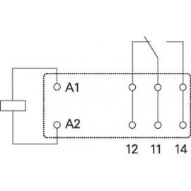Teljesítményrelé, 1UK 12VDC 16A RT1 3. kép