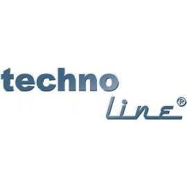 Digitális rádiójel vezérelt falióra, 280x245x32 mm, fehér/ezüst, Techno Line WS 8006 2. kép