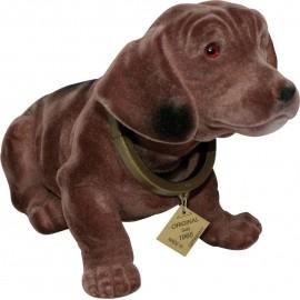 Bólogató kutya autóba, 30 x 10 cm, barna, nagy, Formula 563014