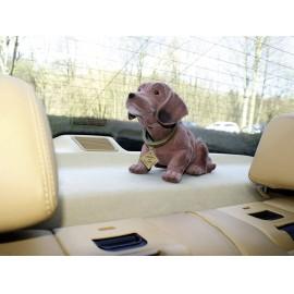 Bólogató kutya autóba, 30 x 10 cm, barna, nagy, Formula 563014 2. kép
