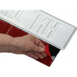 Tépőzáras renszámtábla tartó, univerzális, 49 x 8 cm, IWH 6. kép