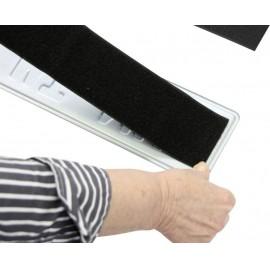 Tépőzáras renszámtábla tartó, univerzális, 49 x 8 cm, IWH 9. kép