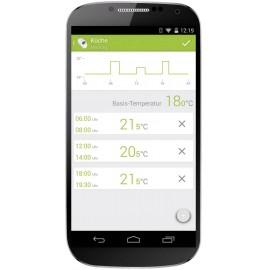 Vezeték nélküli radiátor termosztát, bluetooth és smart funkcióval Android és iOS alkalmazásokhoz eq 7. kép