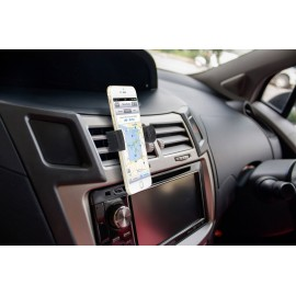 Autós telefontartó, szellőzőrácsba illeszthető 360 °-ban forgatható 55 - 90 mm Basetech BT-SPH-KFZ10