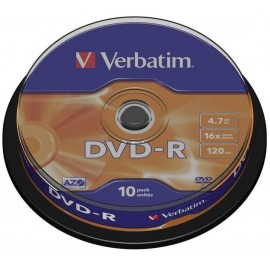 Írható DVD-R 4.7 GB Verbatim 43523 10 db