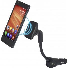 Szivargyújtós autós mobiltelefon tartó, mágneses rögzítés, töltés funkció, max. 8, Renkforce RF-SH-K