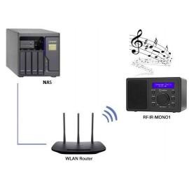Asztali internet rádió, Bluetooth, AUX, WLAN, DLNA-ra alkalmas, fekete, Renkforce RF-IR-MONO1 17. kép