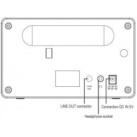 Asztali internet rádió, Bluetooth, AUX, WLAN, DLNA-ra alkalmas, fekete, Renkforce RF-IR-MONO1 18. kép