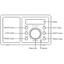 Asztali internet rádió, Bluetooth, AUX, WLAN, DLNA-ra alkalmas, fekete, Renkforce RF-IR-MONO1 19. kép