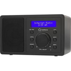 Asztali internet rádió, Bluetooth, AUX, WLAN, DLNA-ra alkalmas, fekete, Renkforce RF-IR-MONO1 4. kép