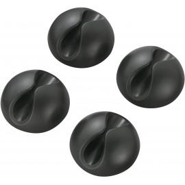 Öntapadós kábelrögzítő, fekete, 4 db, Tru Components
