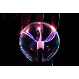 Effektlámpa, mini plazmagömb, fekete, Basetech 1613070 4. kép