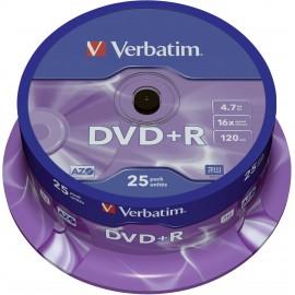 Írható DVD+R 4.7 GB Verbatim 43500 25 db