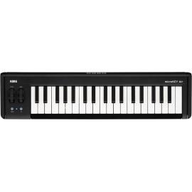KORG microKEY2 Air 37 MIDI keyboard Fekete Mini gombok