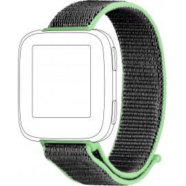 Tartalék karpánt Topp für Fitbit Versa Lime zöld, Szürke