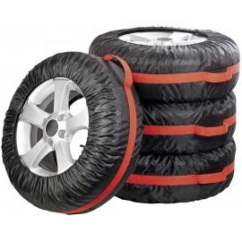 Gumiabroncs védőhuzat, autókerék tároló táska 4 db-os készlet, 13-19 Eufab Wheelbag 30586