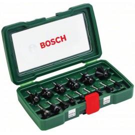 """15 db. Karbid marószerszám 1/4 """" -os szárral Bosch Accessories 2607019468 Szár átmérő (1/4) 6,3"""