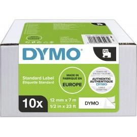Feliratozó szalag 10 részes készlet DYMO D1 2093097 Szalagszín: Fehér Szövegszín:Fekete 12 mm 7 m