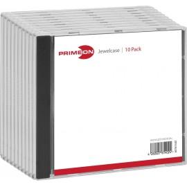 Primeon CD tok 1 CD/DVD/Blu-Ray Műanyag Fekete, Átlátszó 10 db 2761402