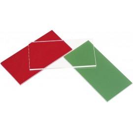 Akril üveglap (H x Sz) 100 mm x 100 mm Anyagvastagság 3 mm Piros 1 db