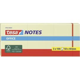 tesa Öntapadó jegyzetlap 57653-00001-05 50 mm x 40 mm Sárga 3 db